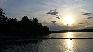 A picture of the Miramichi River, taken near B...