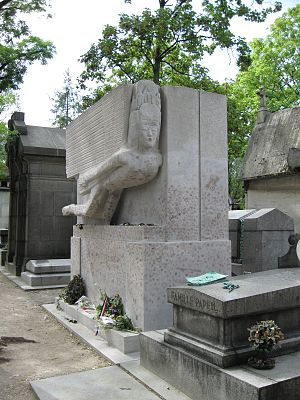 Tomb of Oscar Wilde by Jacob Epstein