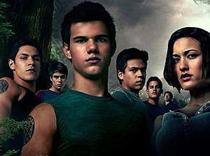 The werewolf pack in The Twilight Saga: Eclips...