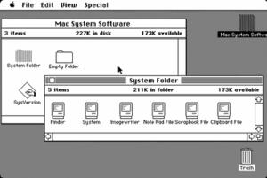Original 1984 Macintosh desktop