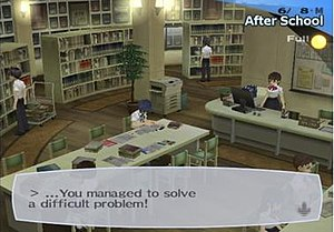 An example of everyday activity in Persona 3 i...