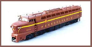 A Baldwin 6-axle locomotive kit cast in resin ...