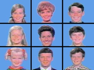 The Brady Bunch opening grid, season one