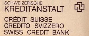 Credit Suisse logo c. 1972