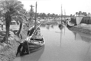 A Canal in Basra circa 1950