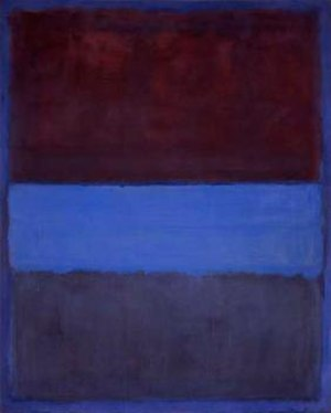 No. 61 (Rust and Blue), 1953, 115 cm × 92 cm (...