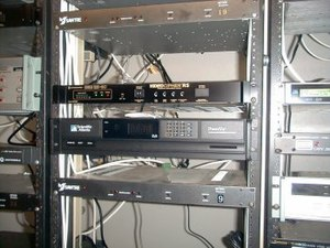 Photo of cable tv headend rack. Louisiana. Now...