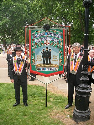 An Orange Order banner dedicated to the Ulster...