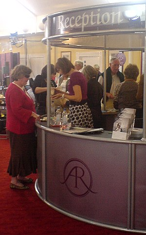 Antques RoadShow Fiona Bruce at Reception
