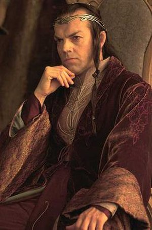 Hugo Weaving as Elrond in The Lord of the Ring...