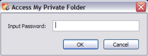 Private Folder password prompt