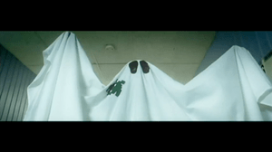 Zimmerman portraying a ghost.