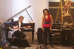 Geeta Novotny & Andy Summers from the video sh...