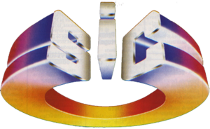 The first logotype of SIC, used until 1997.