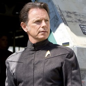 Bruce Greenwood as Pike in the 2009 film