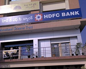 An HDFC Bank Branch in Hyderabad