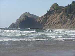 Part of the coastline at Lincoln City