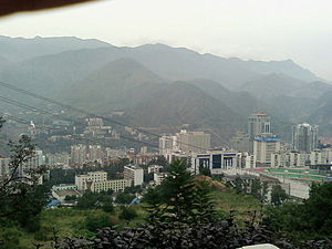 Panzhihua City in Sichuan China