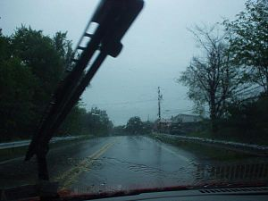 Rain windshield