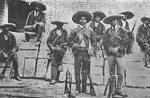 A detachment of Mexican Rurales in field unifo...
