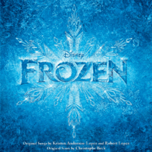A graphic of the album title over a snowflake