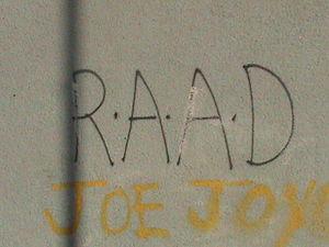 RAAD graffiti