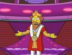 The King in a Simpsons/Burger King commercial.