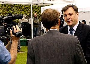 Ed Balls being interviewed by Michael Crick fo...