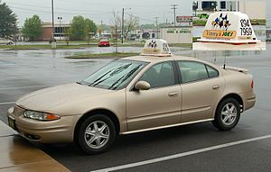 An Oldsmobile Alero used to deliver pizza