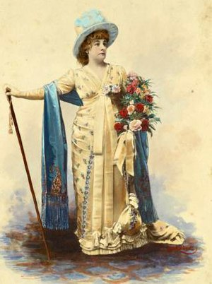 Fanny Davenport in costume for Act 1 of La Tos...