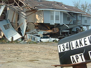 Debris 10 months after Hurricane Katrina hit S...