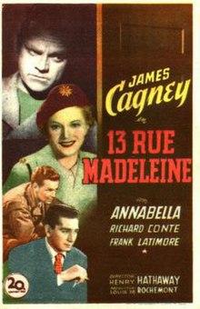13 rue madeleine poster jpg
