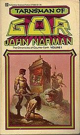 Tarnsman of Gor, 1979 Del Ray edition, cover by Boris Vallejo.