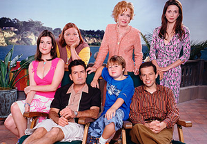 The main cast of Two and a Half Men (seasons 1...