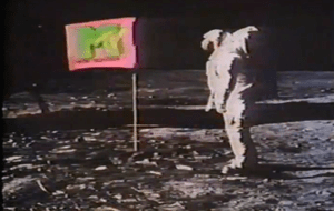 The moon landing was used as an ident for MTV ...