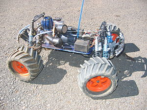 A Traxxas T-Maxx nitro powered off-road monste...