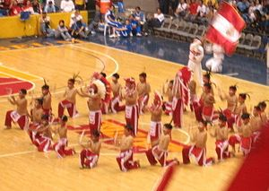 The San Beda Little Indians during their halft...
