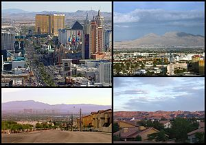 An image montage of the Las Vegas Metropolitan...