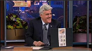 Leno doing Headlines on The Tonight Show with ...