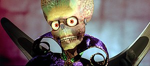 Harryhausen, Mars Attacks, Tim Burton, fresky skulls