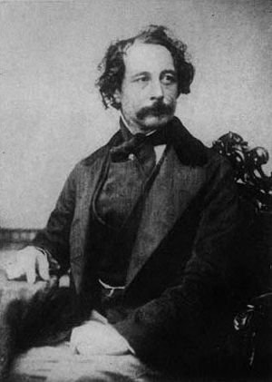 Copy of a Photograph of Charles Dickens