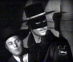 Zorro (Guy Williams) and Bernardo (Gene Sheldo...