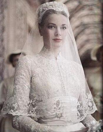 Wedding dress of Grace Kelly
