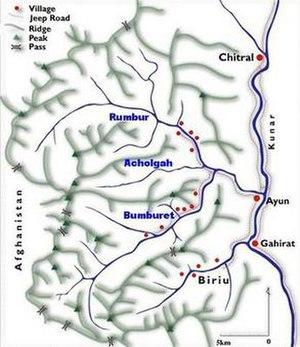 Location of Kalasha Desh