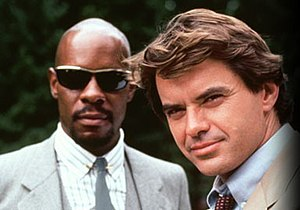 Robert Urich (right) as Spenser, Avery Brooks ...