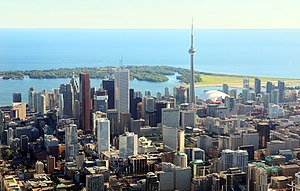 Image of Downtown Toronto,Canada. Contrast sel...