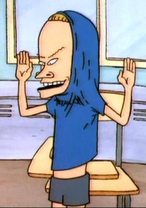 Beavis as The Great Cornholio.