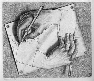 Escher 'outdraws'.. himself, I'd say. Twice.