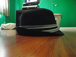 English: An image of trilby hat.