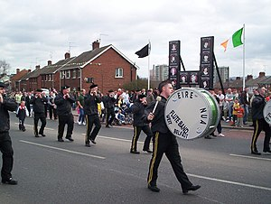 Éire Nua flute band inspired by Bobby Sands, c...